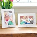 Personalized Vertical Beaded Silver Picture Frame