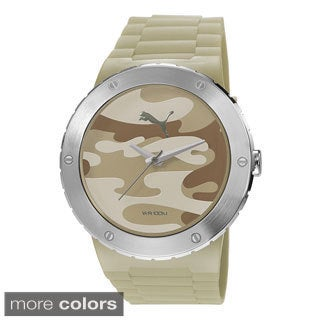 Puma Men's PU103331004 'Blast L' Stainless Steel Camo Watch