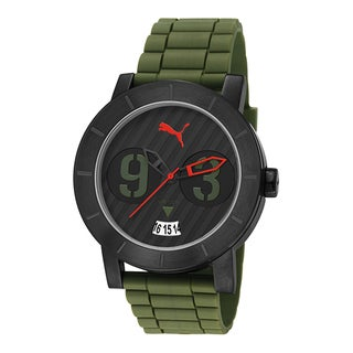 Puma Men's PU103571005 Motorsport Stainless Steel Black and Green Strap Watch