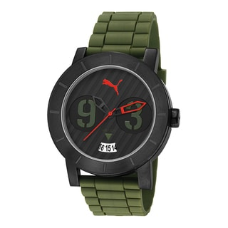 Puma Men's PU103571005 Stainless Steel Black/ Green Watch
