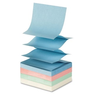 Sparco Fanfold Pop-up Adhesive Pastel Note Pads - 12/PK