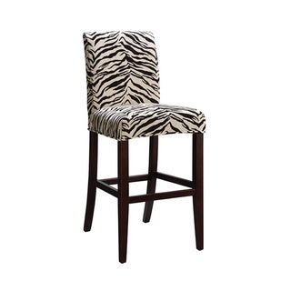 Powell White and Onyx Tiger Striped Parsons Chair Slipcover