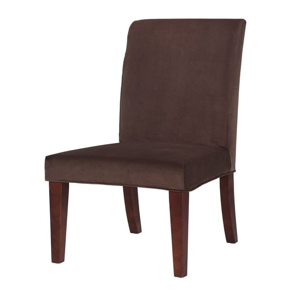 Powell Mink Brown Velvet Parsons Chair Slipcover