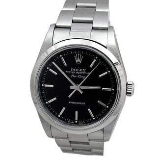 Pre-owned Men's Rolex Midsize Stainless Steel Airking Watch