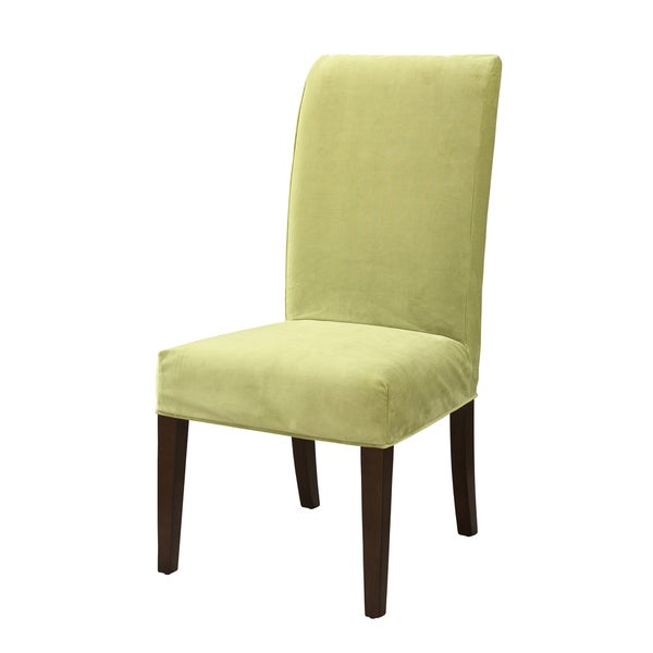 Powell Basil Green Velvet Parsons Chair Slipcover