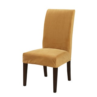 Powell Butternut Gold Velvet Parsons Chair Slipcover