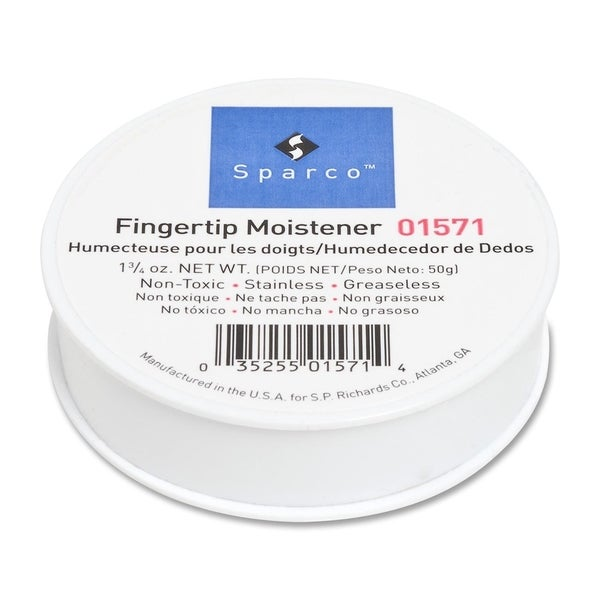Sparco 1-3/4 Oz Greaseless Fingertip Moistener - Each