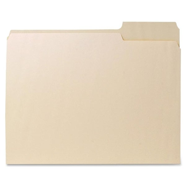 Sparco 1/3 Cut Recycled File Folders (Box of 100)