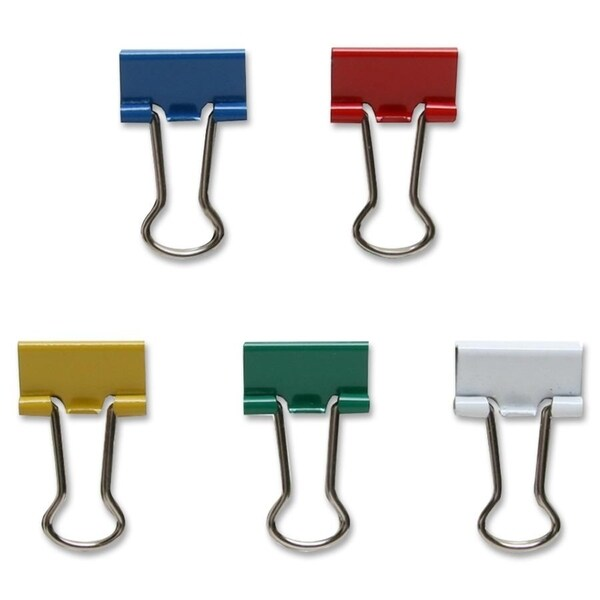 Sparco Assorted Colour Binder Clips - 100/PK