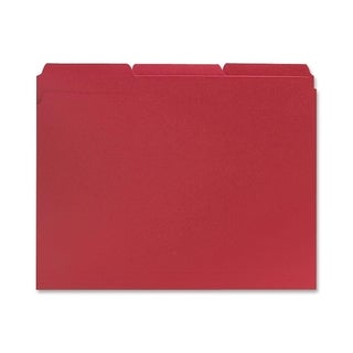 Sparco 1/3 Cut Red Colored Letter Size File Folders (Box of 100)