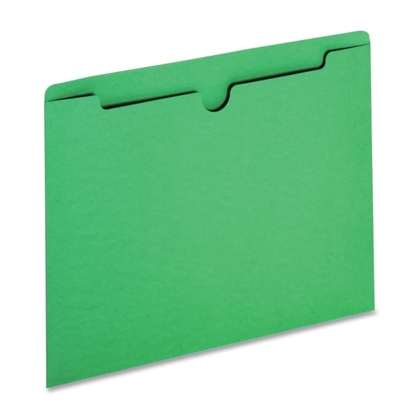 Sparco Reinforced Tabs Green Colored File Jackets (Box of 100)