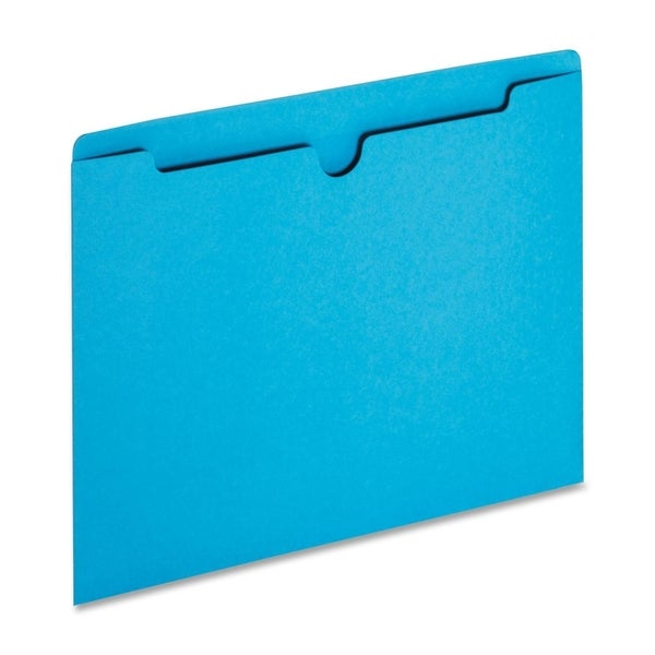 Sparco Reinforced Tabs Blue Colored File Jackets (Box of 100)