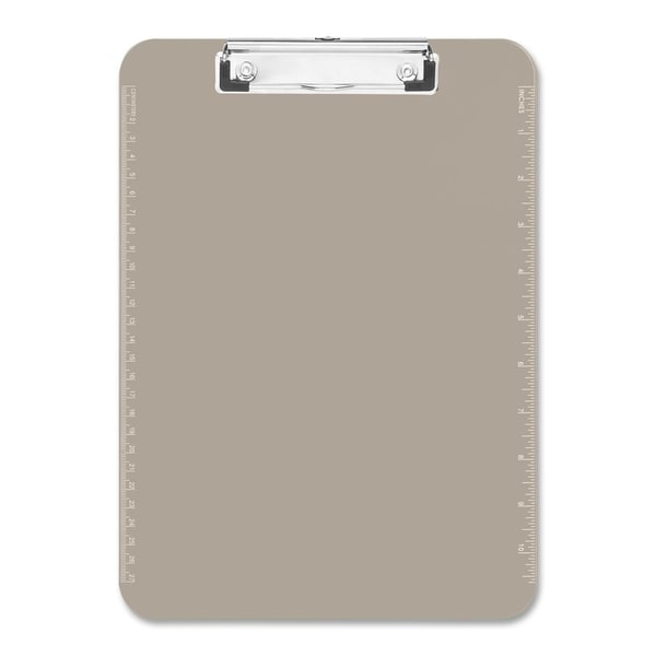 Sparco Smoke Plastic Clipboards with Flat Clip