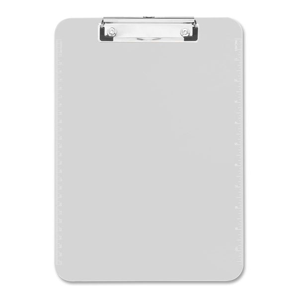 Sparco Clear Plastic Clipboards with Flat Clip