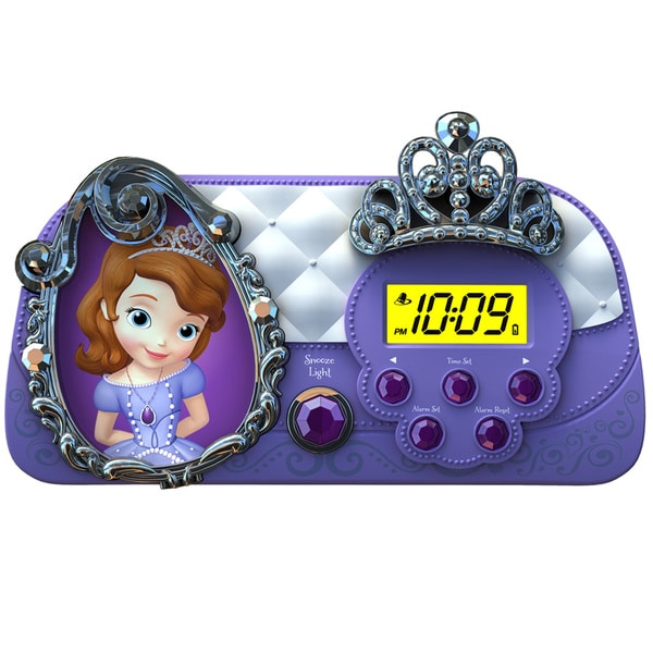 Sofia the First Alarm Clock with Sleep Timer Night Light