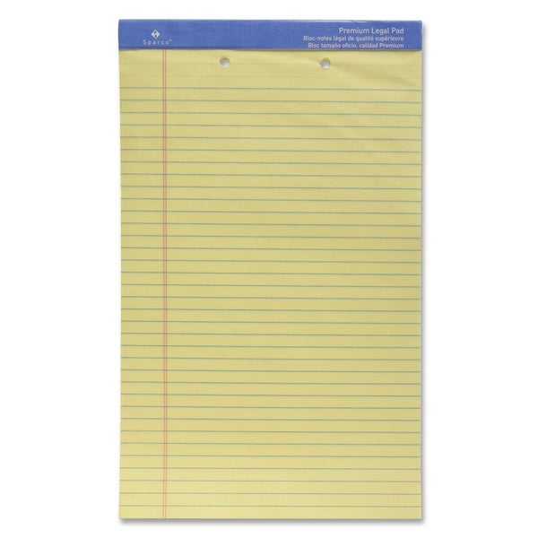 Sparco 2-Hole Punched Legal Ruled Pads - Each