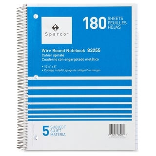 Sparco Wirebound College Ruled Notebooks - Each