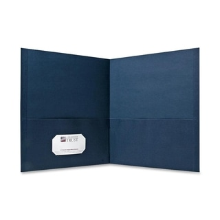 Sparco Simulated Leather Double Pocket Folders - 25/BX