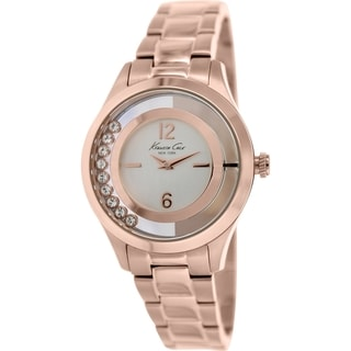 Kenneth Cole Women's KC4943 Rose-Gold Stainless-Steel Quartz Watch with Silver Dial