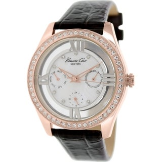 Kenneth Cole Women's KC2818 Brown Leather Quartz Watch with Mother-Of-Pearl Dial