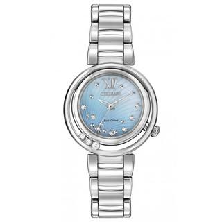 Citizen Women's EM0320-59D Diamonds Eco-Drive Stainless Steel Strap Watch