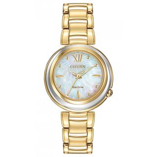 Citizen Women's EM0334-54D Sunrise Eco-Drive Gold-Tone Stainless Steel Strap Watch