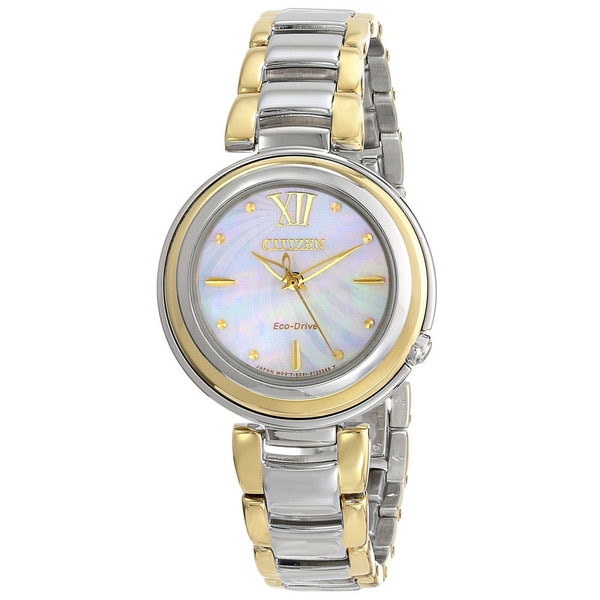 Citizen Women's EM0337-56D Sunrise Eco-Drive Two-Tone Stainless Steel Strap Watch