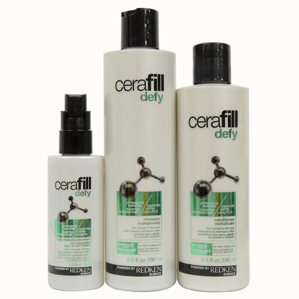 Cerafill Defy 3-piece Scalp Energizing Kit