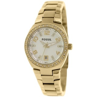 Fossil Women's Serena AM4557 Gold Stainless-Steel Quartz Watch with Mother-Of-Pearl Dial