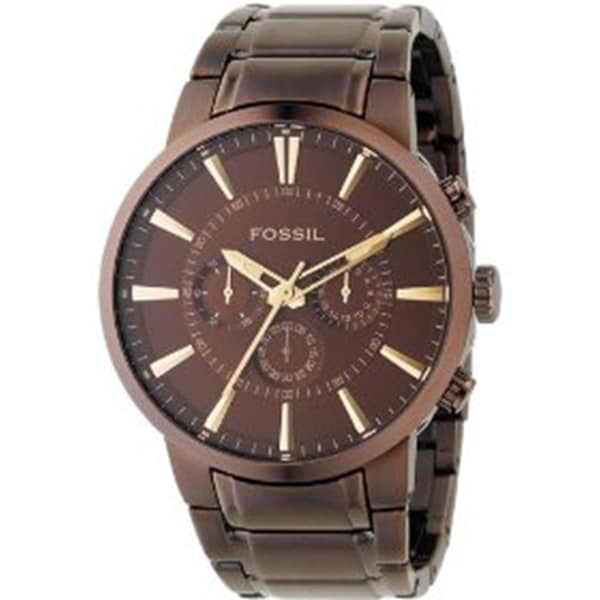 Fossil Men's FS4357 Brown Stainless-Steel Analog Quartz Watch with Brown Dial
