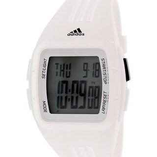 Adidas Men's Duramo ADP6095 White Rubber Quartz Watch with Digital Dial