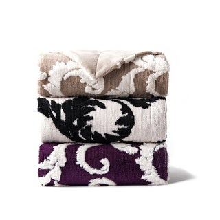 Mirabelle Jacquard Sherpa Throw