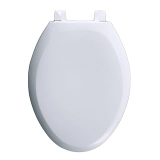American Standard White Everclean Round-front Seat Cover Ez Lift Off Seat