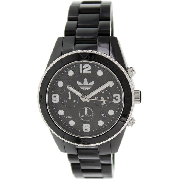 Adidas Men's Brisbane ADH2947 Black Plastic Quartz Watch with Black Dial