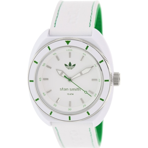 Adidas Men's Santiago ADH2931 White Leather Quartz Watch with White Dial
