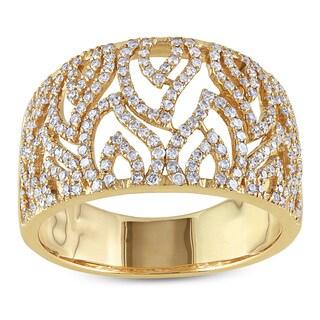 Miadora 14k Yellow Gold 5/8ct TDW Diamond Ring (G-H, I1-I2)