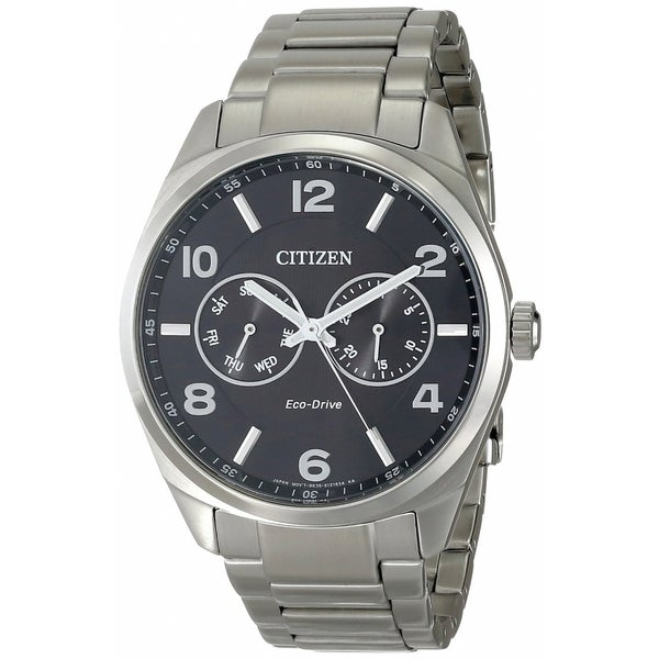Citizen Men's AO9020-84E Eco-Drive Black Dial Watch