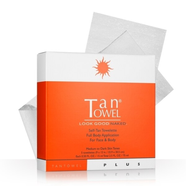 Tan Towel Half Body Plus 5-piece Tanning Towelette Set