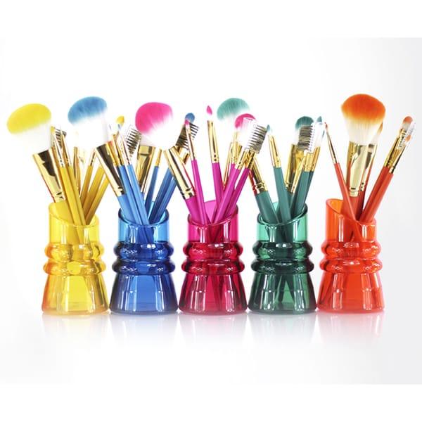 Jacki Design Cosmopolitan 7-piece Makeup Brush and Holder Set