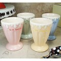 D'Lusso Designs Four Piece Multi Color Mini Ceramic Ice Cream Cup Set