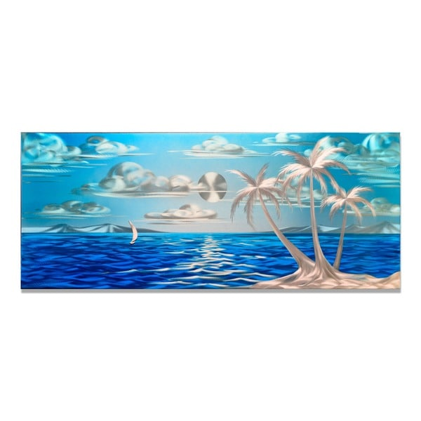 Blue Paradise (Small)' Metal Wall Art 14139655