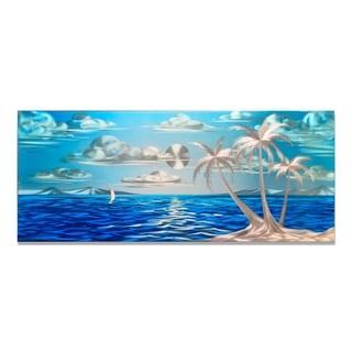 Blue Paradise (Small)' Metal Wall Art