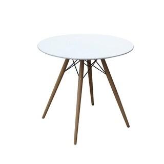 Woodleg Dining Table 36-inch Fiberglass Top