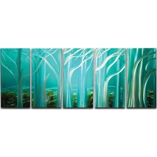 Forest of Light' 5-piece Metal Wall Art