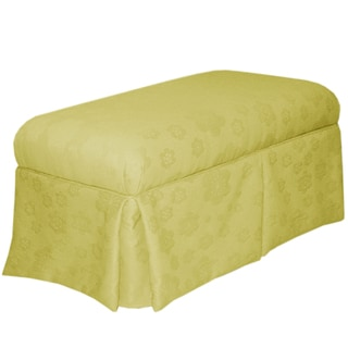 Made to Order Lime Green Skirted Storage Bench