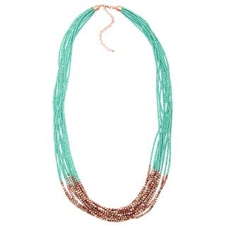 Alexa Starr Long Mutli-strand Seed Bead Necklace