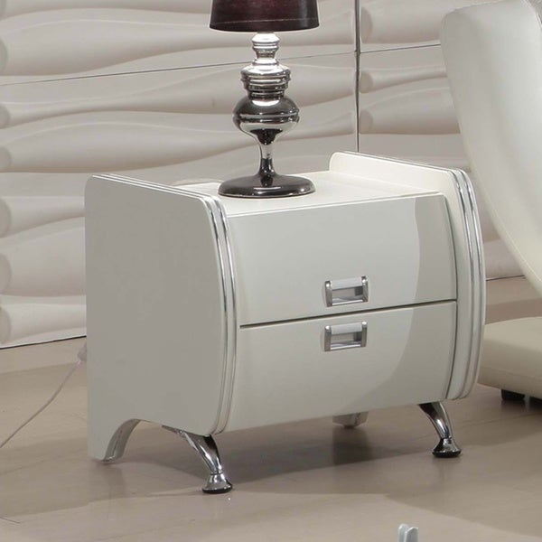 Dona Cream Modern Night Stand