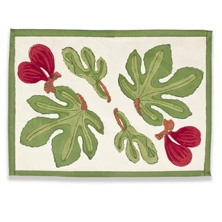 Couleur Nature Fig Red/ Green Placemats 15 x 18-inch (Set of 6)