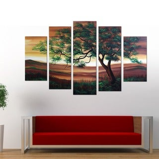 Branches of Strength' 5-piece Hand-painted Oil on Canvas