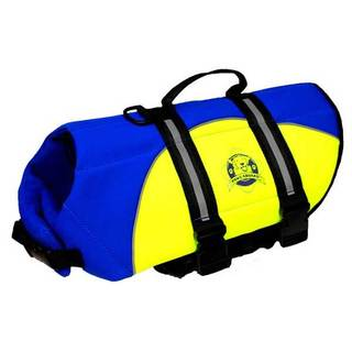Paws Aboard Neoprene Doggy Life Jacket Blue/ Yellow